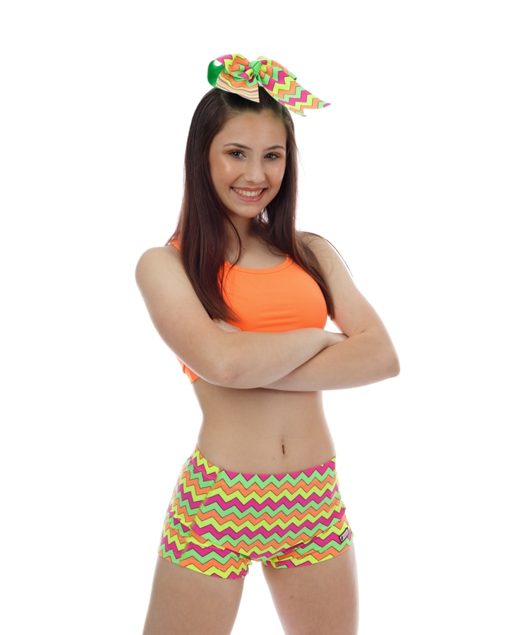 CrazyPants Multi Neon Chevron Shorts