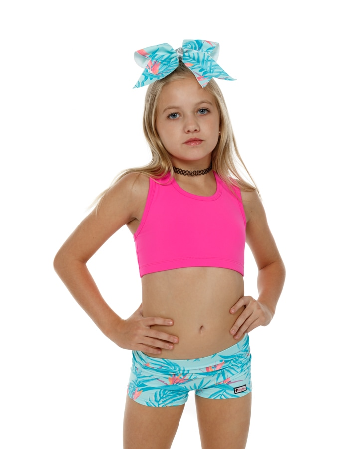 CrazyPants Floral Teal Shorts