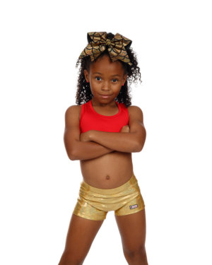 CrazyPants Sparkle Gold Shorts