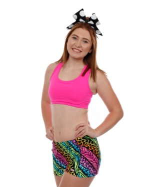CrazyPants Neon Animal Print Shorts