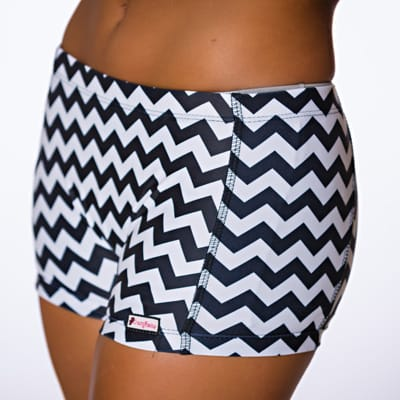CrazyPants Black & White Chevron Shorts