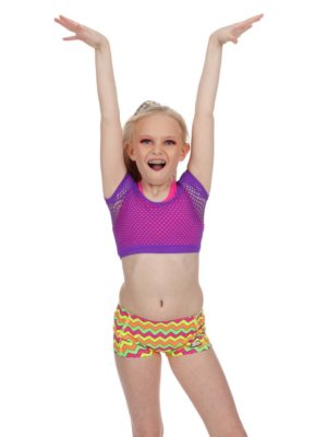 CrazyPants Multi Neon Shorts