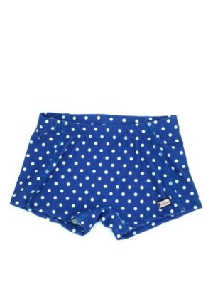 CrazyPants Blue with White Polka Dots Shorts