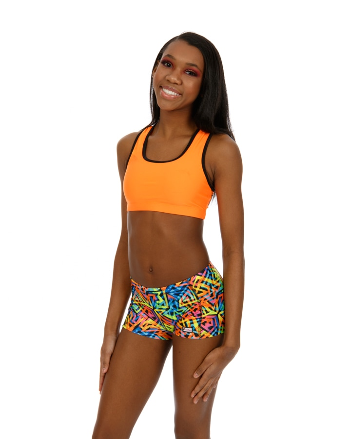 CrazyPants Neon Zig Zag Shorts