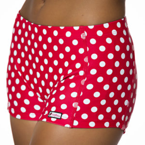Crazy Pants Red with White Polka Dots Shorts