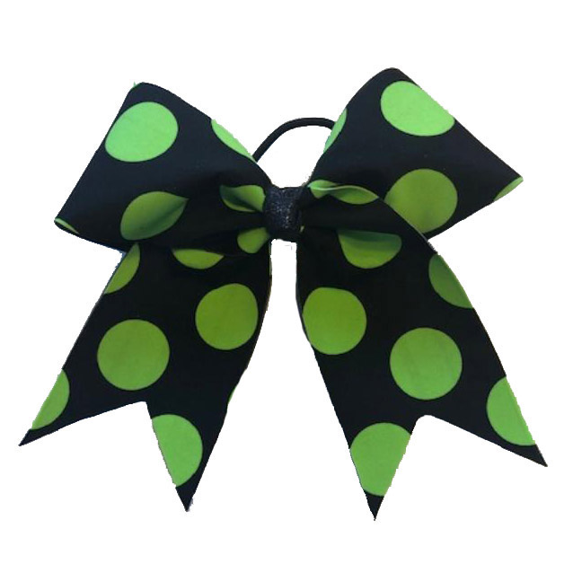 CrazyPants - Black w/Green Polka Dots Bow