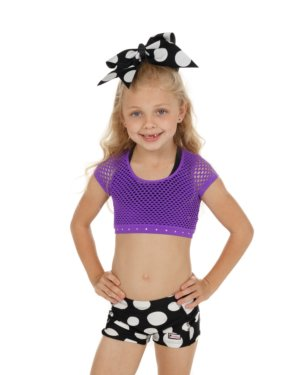 CrazyPants Purple Mesh Netted Crop Top