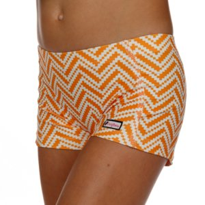 CrazyPants Orange/White Chevron Shorts