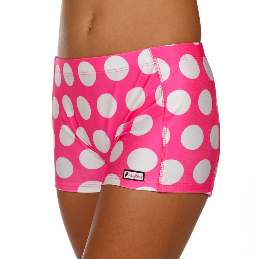 CrazyPants Pink with White Polka Dots Shorts
