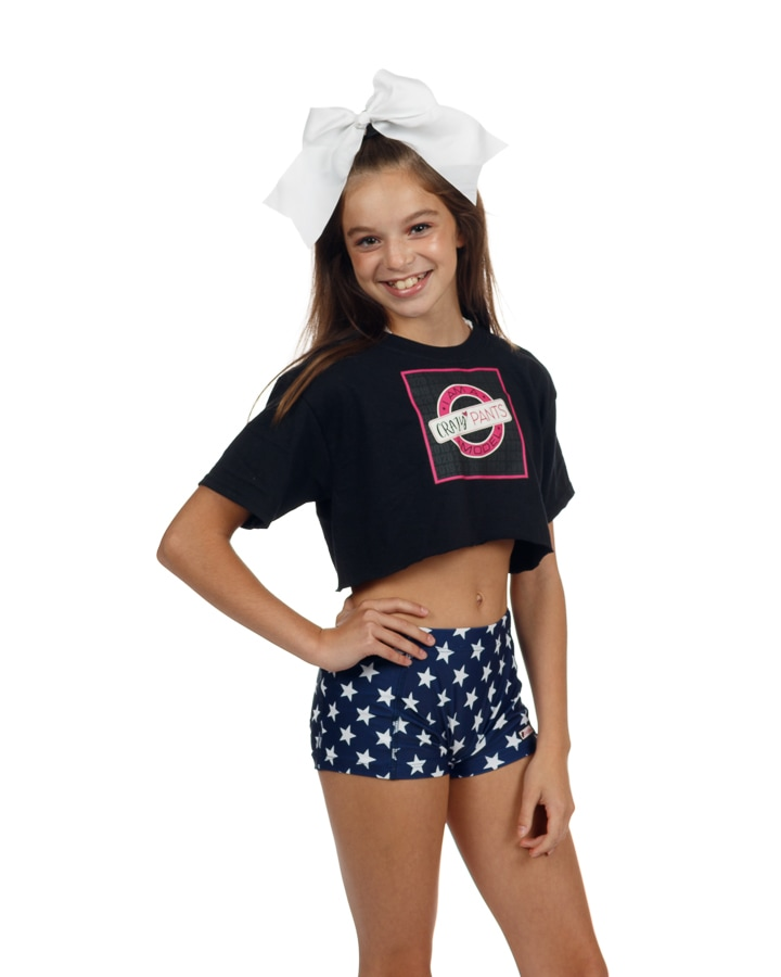 CrazyPants Navy Blue with White Stars Shorts