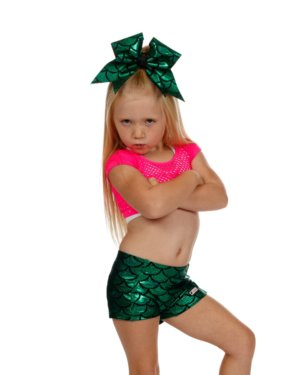 CrazyPants Green Mermaid Scales Shorts