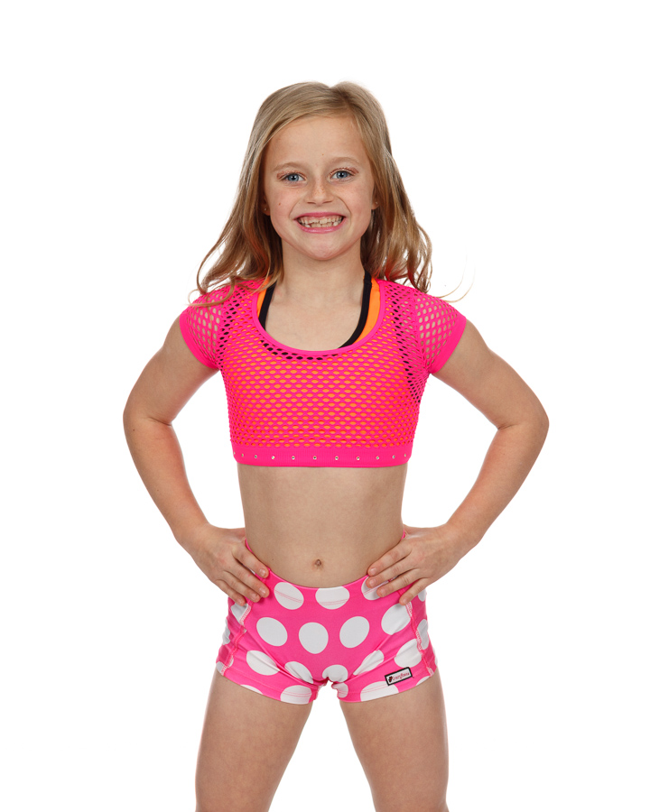 CrazyPants Hot Pink w/ White Polka Dot Shorts