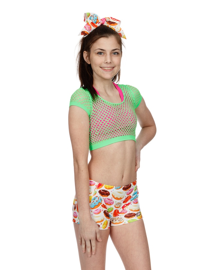 CrazyPants Mesh Netted Crop Top - Lime Green
