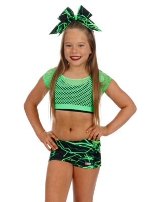 CrazyPants Green Lightning Shorts