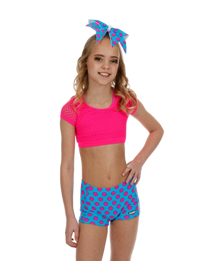CrazyPants Blue & Pink Polka Dot Shorts