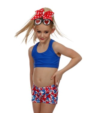 CrazyPants Red White & Blue Stars Shorts